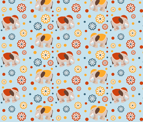 Elephants fabric by aothdesigns on Spoonflower - custom fabric