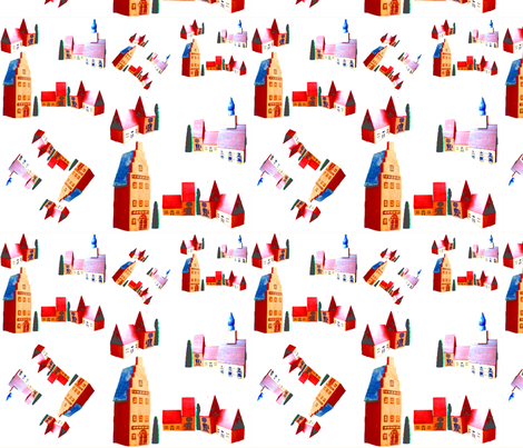 Around Town fabric by withonethread on Spoonflower - custom fabric