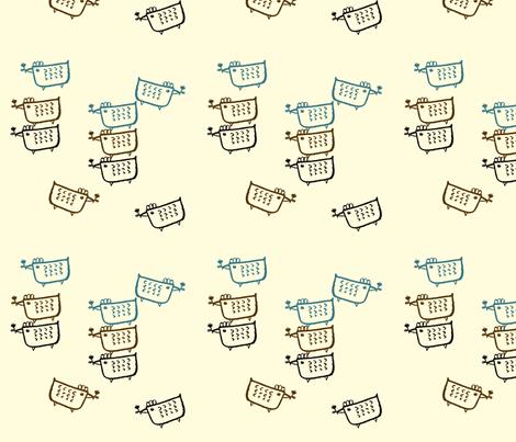 bird and flower fabric by sawako on Spoonflower - custom fabric