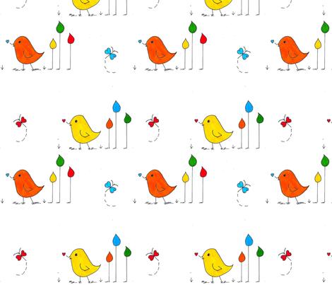 Sweet Peeps fabric by ellielinn on Spoonflower - custom fabric