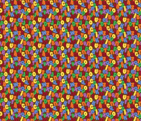 Retro Alphabet Soup fabric by sew-me-a-garden on Spoonflower - custom fabric