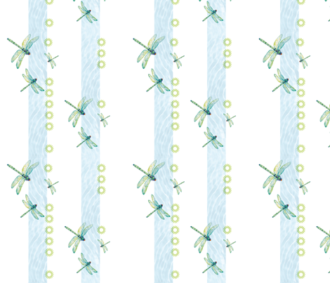 Dragonflies dancing fabric by evamarion on Spoonflower - custom fabric