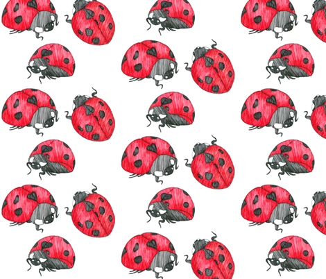 ladybugs fabric by kiki1978 on Spoonflower - custom fabric