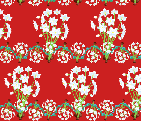 december fabric by rose'n'thorn on Spoonflower - custom fabric