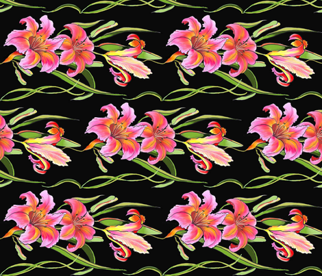 Lily-w- fabric by dragonfly on Spoonflower - custom fabric