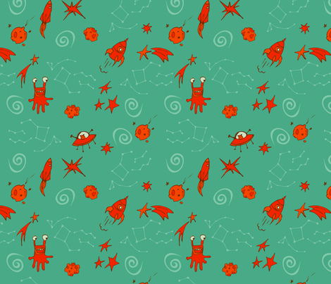 Sputnik Blanket fabric by locamode on Spoonflower - custom fabric