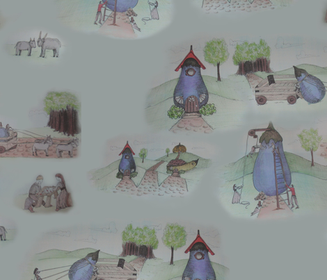 Toile Tale fabric by kat_v_l_wright on Spoonflower - custom fabric