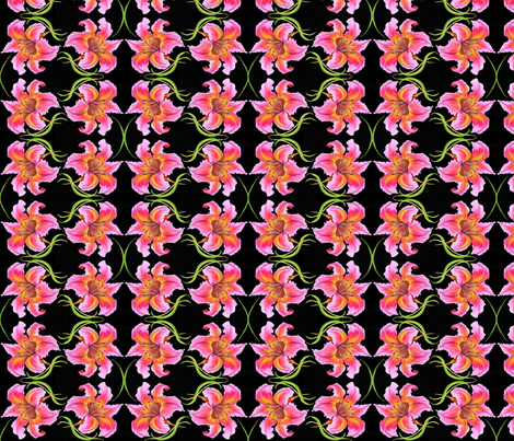 double_lilies2 fabric by dragonfly on Spoonflower - custom fabric