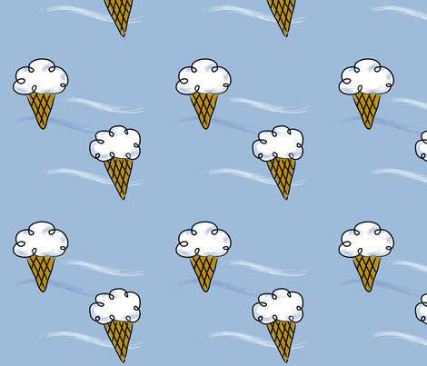 Ice Cream Clouds fabric by jenimp on Spoonflower - custom fabric