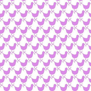Bird Birds/Flowers coordinate Mauve colourway