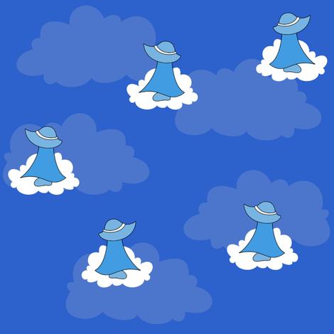 Fluffy Clouds, Blue Sky fabric by taracrowleythewyrd on Spoonflower - custom fabric