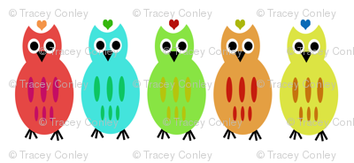 Owl Lined Up