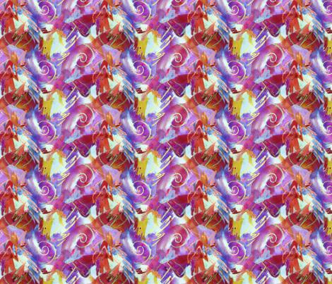 Crayon Swirls Large fabric by helenklebesadel on Spoonflower - custom fabric