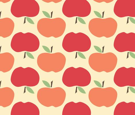 Apples fabric by natalie on Spoonflower - custom fabric