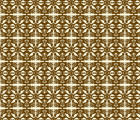 Crocodile Damask Mud fabric by laurawilson on Spoonflower - custom fabric
