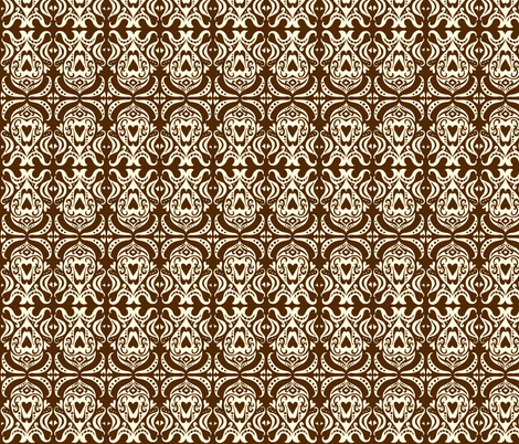Valentine Brown fabric by laurawilson on Spoonflower - custom fabric