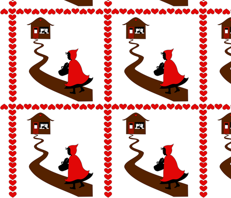 red riding hood fabric by rose'n'thorn on Spoonflower - custom fabric