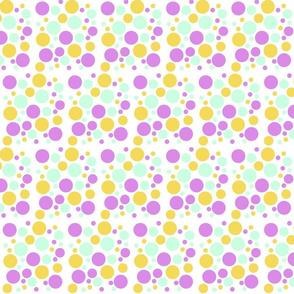 Dots - BirdsAndFlowers - Mauve colourway