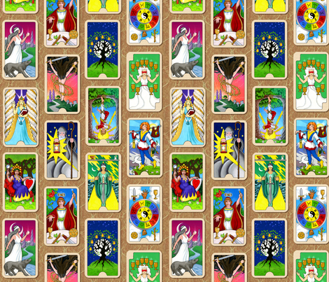 The Hallmark Tarot fabric by hannafate on Spoonflower - custom fabric