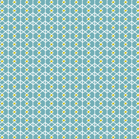 Annika Diamond - Geometric Blue fabric by heatherdutton on Spoonflower - custom fabric