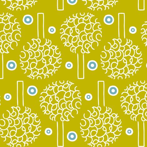 Annika - Modern Trees Green fabric by heatherdutton on Spoonflower - custom fabric