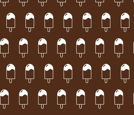 popsicle brown fabric by mrshervi on Spoonflower - custom fabric