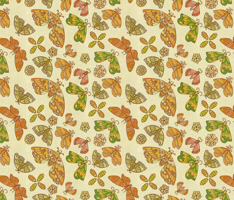 Return of Mothra fabric by dottikins on Spoonflower - custom fabric