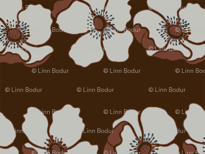 brown_background_flowers