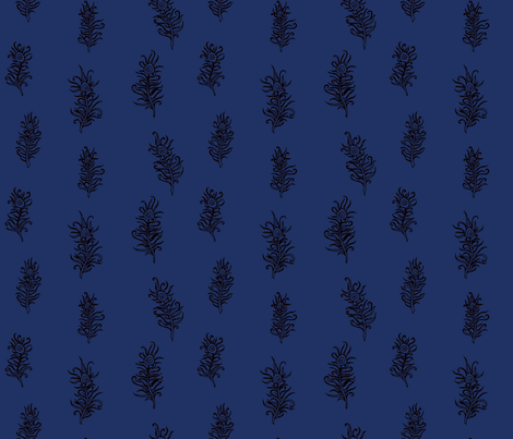 Nom de Plume (Midnight) fabric by leighr on Spoonflower - custom fabric