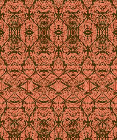 Leaf blade-salmon  fabric by wren_leyland on Spoonflower - custom fabric