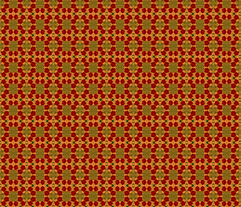 primrose_rings_red_orange_350 fabric by wren_leyland on Spoonflower - custom fabric