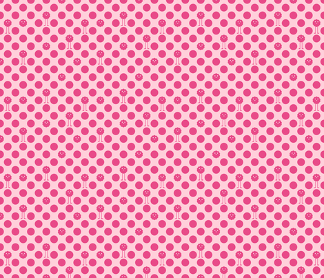 Monster Scallops AND Monster Polka Dots fabric by jesseesuem on Spoonflower - custom fabric