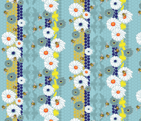 Bee bliss fabric by mandyh on Spoonflower - custom fabric
