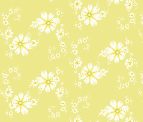 Demure Daisy fabric by winter on Spoonflower - custom fabric