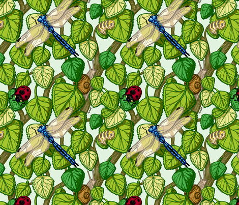 bugs in the bush fabric by raul on Spoonflower - custom fabric
