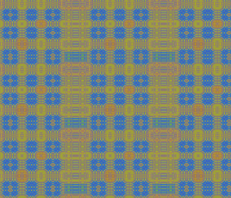 Medallion Plaid in Blue & Gold fabric by wren_leyland on Spoonflower - custom fabric