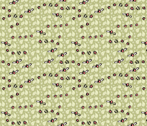 Ladies_n_Leaves fabric by ddmote on Spoonflower - custom fabric