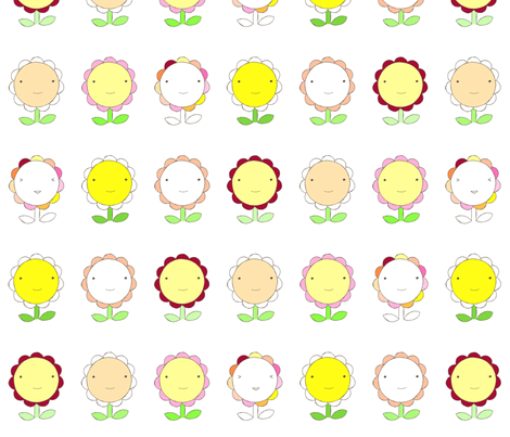 Happy Flowers fabric by pocketcarnival on Spoonflower - custom fabric