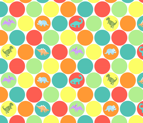 dino dots fabric by mytinystar on Spoonflower - custom fabric