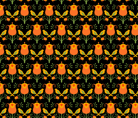 Cannister black fabric by royalforest on Spoonflower - custom fabric