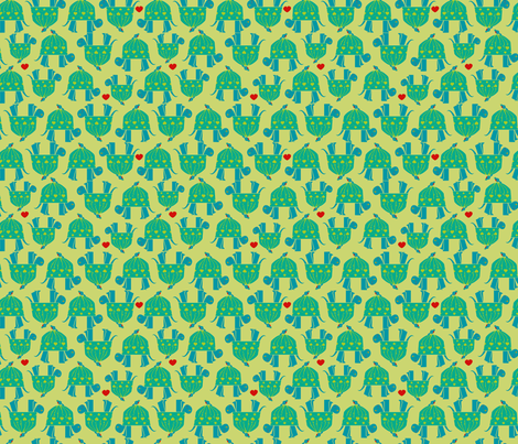 Cozy Turtle fabric by royalforest on Spoonflower - custom fabric