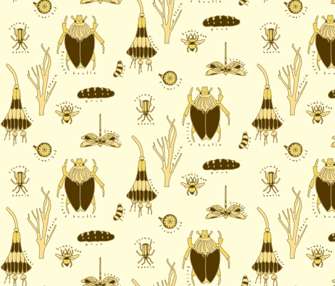 insects fabric by holli_zollinger on Spoonflower - custom fabric