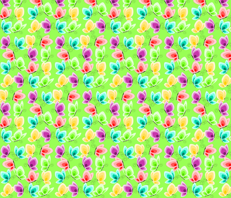 butterfly green fabric by rose'n'thorn on Spoonflower - custom fabric