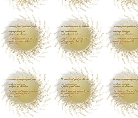 no weapon formed will prosper fabric by wren_leyland on Spoonflower - custom fabric