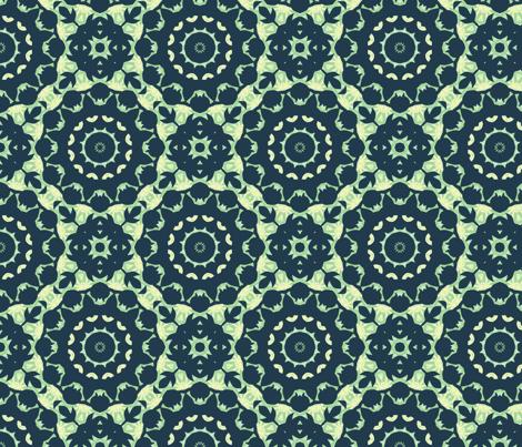 blue_silhouette_w_lattice-141221 fabric by thatswho on Spoonflower - custom fabric