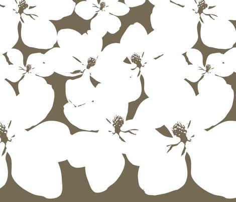 Magnolia Little Gem - Dark Spice - 2 Yard Panel fabric by kristopherk on Spoonflower - custom fabric