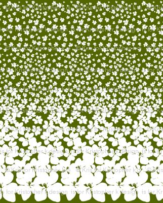 Magnolia Little Gem - Olive Green - 2 Yard Panel