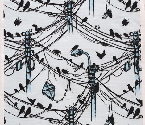 birds and cables