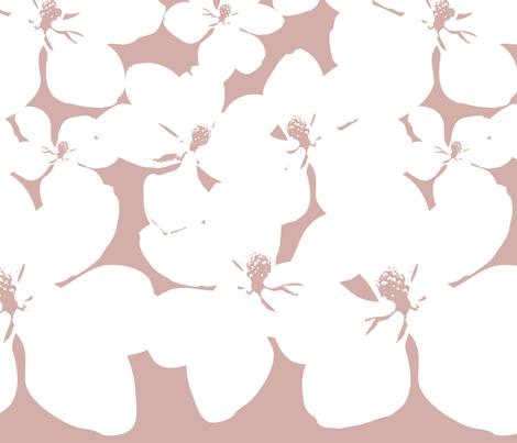 Magnolia Little Gem - Dusty Pink - 2 Yard Panel fabric by kristopherk on Spoonflower - custom fabric