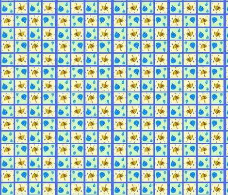 Rainy Day (blue background) fabric by aunt_raine on Spoonflower - custom fabric